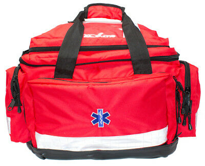 Kitted Emergency First Aid Paramedic Trauma EMT Bag Large Red *FREE PRINTING*