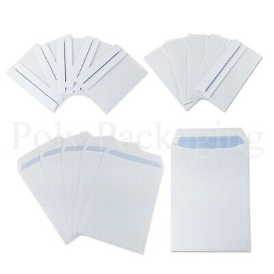 PAPER ENVELOPES A6/A5/A4/DL *Any Qty* Plain White SELF SEAL Small Medium Large