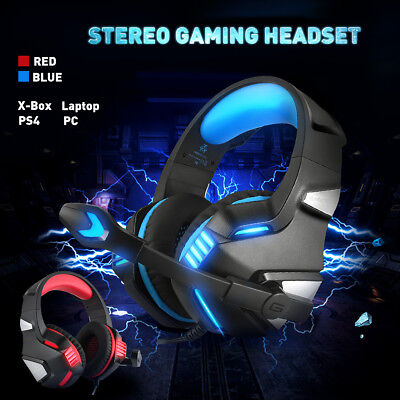 Gaming Headset Headphone+Microphone with Bass Surround For PS4 Laptop Xbox One