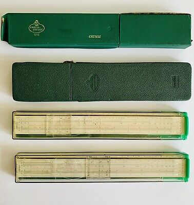 Vintage Faber Castell Slide Rules x 4 1/92 1/87 111/22A Addiator Manuals Germany