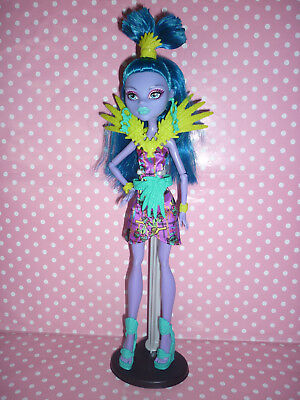 """Monster High """"Ghouls Getaway"""" Jane Boolittle Doll Inc Stand & Brush Exc Cond'"""