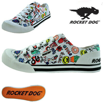 Rocket Dog Ladies Womens Flat Retro Canvas Plimsolls Pumps Shoes Trainers Size