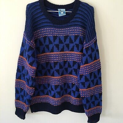 Vintage Icelandic Pure Wool Knitted Jumper Size Large