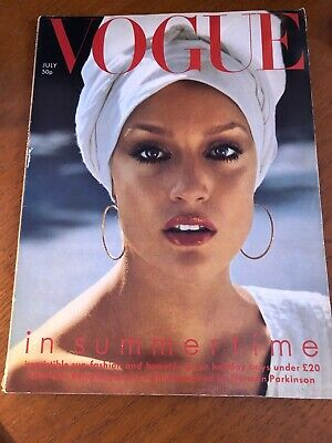 VOGUE MAGAZINE 1975 July  free gift wrap - FAST DISPATCH
