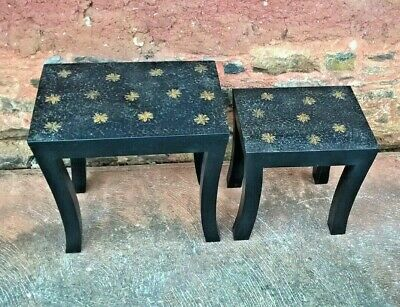 Pair Of Upcycled Coffee / Occasional Tables