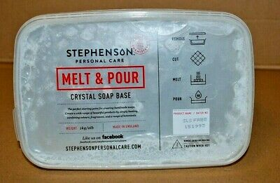 Stephenson - Melt & Pour - Crystal Soap Base - 1Kg - Sls Free - 151993 -