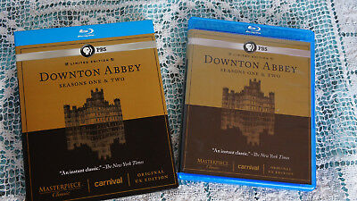 Masterpiece Classic: Downton Abbey - Seasons One  Two (Blu-ray Disc, 2012, 5-Dis