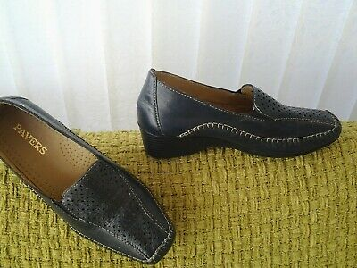 f8cfd19a490f Pavers Black Leather Wedge Heel Peep Toe Shoes Size 7 Ladies. £7.99 0 Bids  4d 0h. See Details. pavers size 6