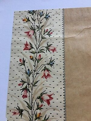 Antique Original Late 19th C/early 20thC HAND PAINTED/  Textile Design /French
