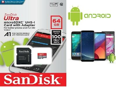 64GB SanDisk Ultra MicroSD UHS-I memory Card Class 10 SDXC 98MBs with Adapter