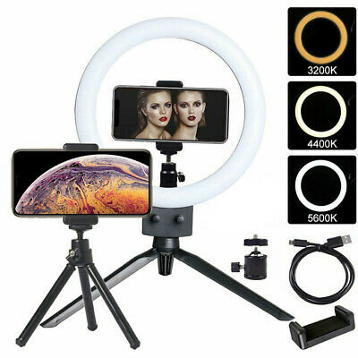 "9"" LED Ring Light with Stand Dimmable LED Lighting Kit For Makeup Youtube Live"