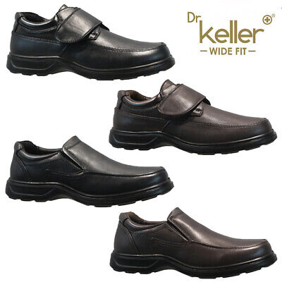 Mens Faux Leather Wide Fit Walking Lightweight Driving Casual Formal Shoes Size