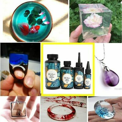 25/60g Crystal Epoxy UV Resin Solar Cure Sunlight Activated Jewelry DIY