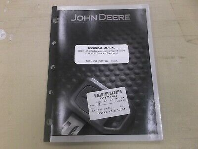 JOHN DEERE 300D 310D 315D Backhoe Loader Frame & Body Shop Repair Manual  TM1497