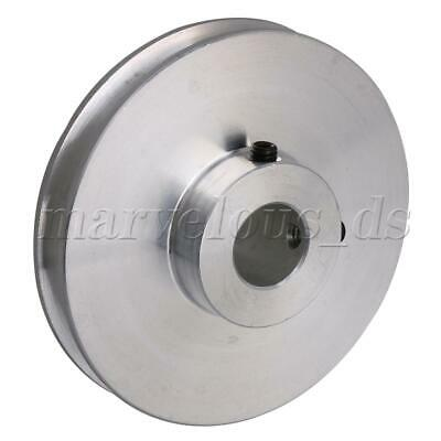 Silver Aluminum Alloy Single Groove 12mm Fix Bore Step Pulley 58x16x12MM