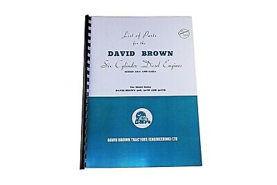 David Brown List of Parts for the AD.6 and CAD.6 Engines (DBT 277/2)