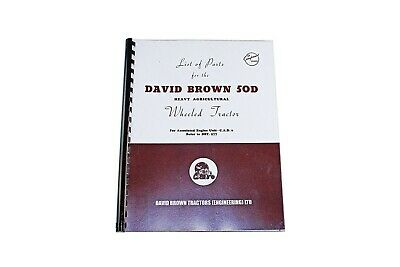 David Brown List of Parts for the 50D Tractor (less engine) (DBT325)