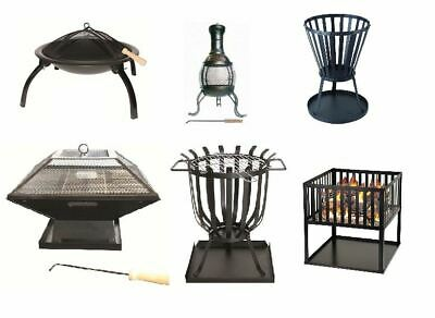 New Garden Fire Pit Outdoor Wood Log Burner Bbq Patio Heater Camping Brazier