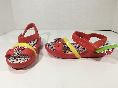 f372dcf7cfbf90 CROCS Girls Lina Minnie Mouse Red Casual Sandals Shoes Size 13 Y ZZ-892