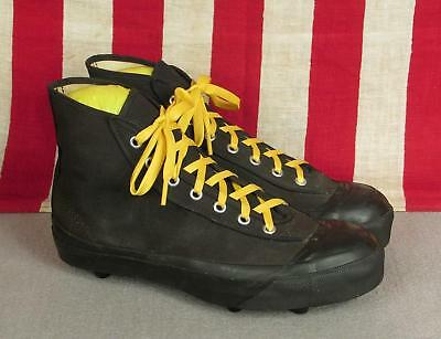 Vintage 1940s Spalding Canvas Football Sneakers Turf Shoes High Top NOS Sz 6.5