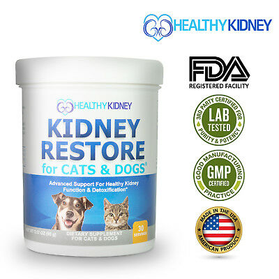 Kidney Restore Supplement For Cats & Dogs Renal Pets Supplement Feline Canine