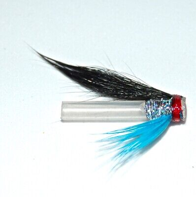 3 EXECUTIONER HITCH SALMON FLIES TIED ON 18MM PLASTIC TUBES