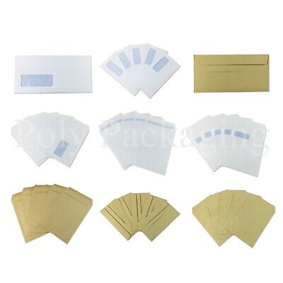 Self Seal Envelopes Manilla and White Plain and Window Any Size and Quantity