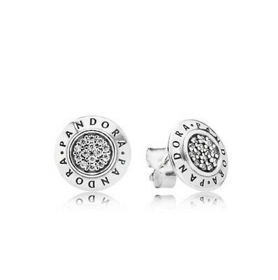 New Authentic Signature PANDORA Earrings ALE S925 Sterling Silver