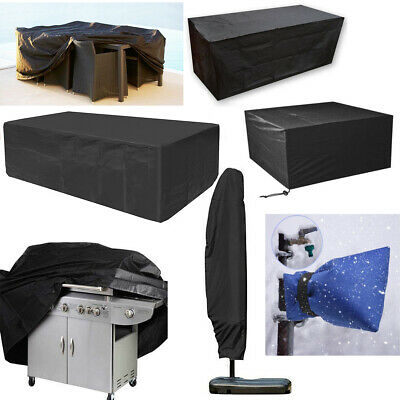Outdoor Garden Patio Furniture Covers Parasol BBQ Grill Sun Bed Waterproof Cover
