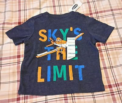 Disney Old Navy Tee Collectabilitees 12-18 months Boy Shirt Blue Sky's the Limit