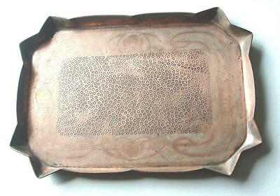 Arts & Crafts  Hayle  Copper Tray Charles Eustace  58cm. x 41cm.