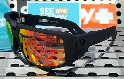 446aa358f9 New Spy Optic TOURING 670795973365 Sunglasses Matte Black  Happy Red Spectra