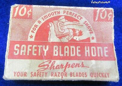 Vintage Shaving Straight Safety Razor Blade Hone Stone Sharpener