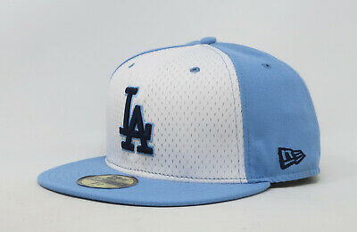 5809e0aec6f New Era 59Fifty Hat Mens MLB Los Angeles Dodgers White Sky Blue LA Fitted  Cap