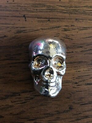 """100 gram 999 Silver Bullion """"Skull"""" by YPS Yeager's Poured Silver"""