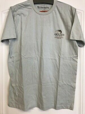 fef7dcbf649b3 Platte River Fly Shop Logo Simms Kype Jaw Short Sleeved T-shirt
