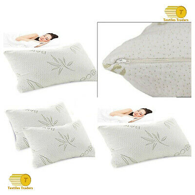 Anti Bacterial Bamboo Memory Foam Pillow Orthopaedic Head Neck Back Supports