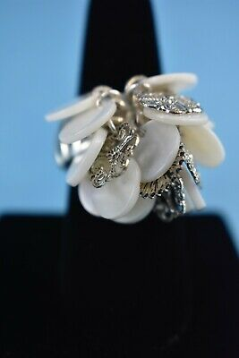 Mother of Pearl Statement Stretch Ring by AVON - One Size Fits Most - NEW NO Box