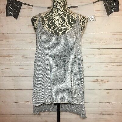 ee9613a1851 Express One Eleven Womens Gray Open Back High-Low Strappy Tunic Tank Top  Size L