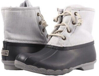 7c3af417fd0c NEW Women s Sperry Saltwater Wool Embossed Duck Boots Size 8.5m canvas grey