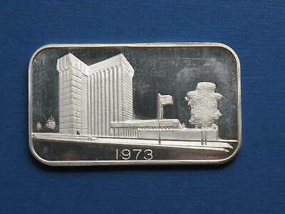 1973 Madison Mint Middlesex Bank MAD36 #06064 1oz Silver Bar  999 fine  A109