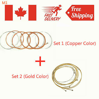 2 Set of Acoustic Guitar String E-B-A-G-D-E Set for Guitar Strings Replacements