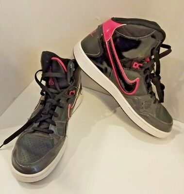 d51f89e6284 Nike Force High Top Women s Athletic Basketball Sneakers Size 11 Black Pink  +