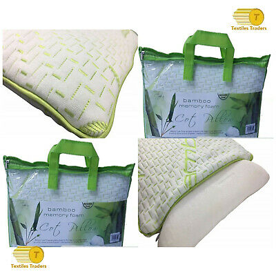 2 x Bamboo Memory Foam Cot Bed Pillows Baby Toddler Bedding Kids Junior Sleeping