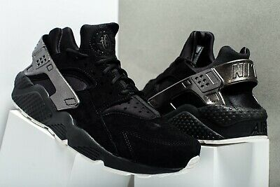 promo code ab377 edd12 Nike Air Huarache Run Prm 704830014 Black Sail Men s Authentic Running Shoes