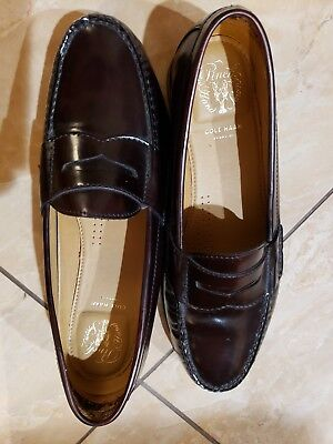 923a415e009 Cole Haan Men s Pinch Grand Hand Sewn Classic Penny Loafers Mahogany Size  9.5 M
