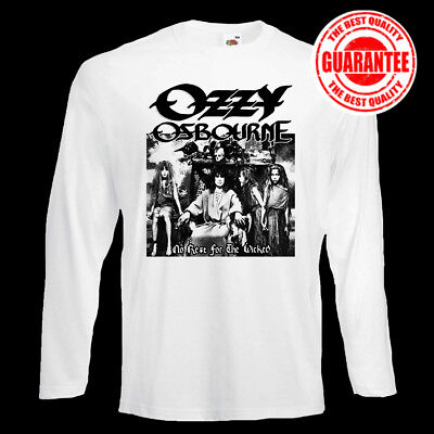 Ozzy Osbourne No Rest for the Wicked 1988 t shirt longsleeve 100% cotton S-5XL