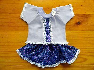 Baby Born Doll Mauve T/Shirt & Purple & Blue Sequin Skirt