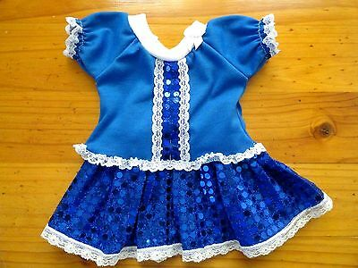 Baby Born Doll Blue T/shirt & Royal Blue Sequin Skirt