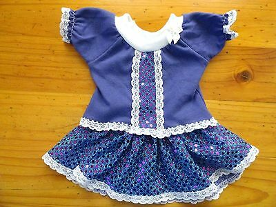 Baby Born Doll Purple T/shirt & Purple & Blue Sequin Skirt